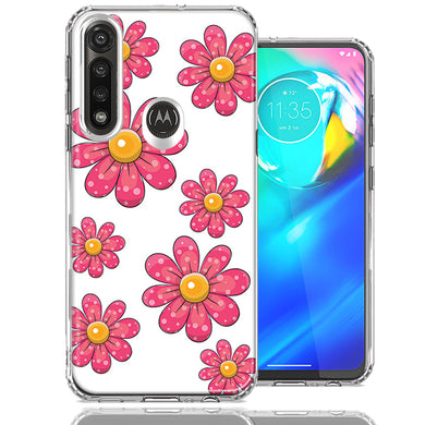 Motorola Moto G Power Pink Daisy Flower Design Double Layer Phone Case Cover