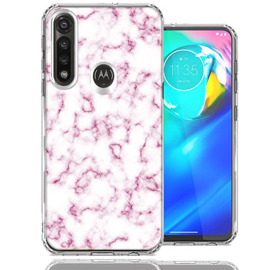 Motorola Moto G Power Pink Marble Design Double Layer Phone Case Cover