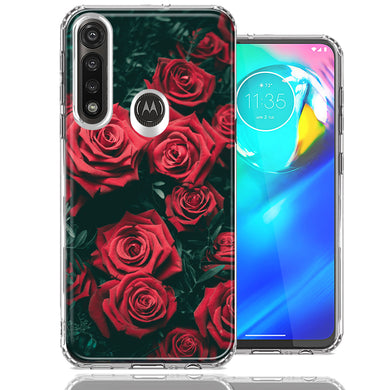 Motorola Moto G Power Red Roses Design Double Layer Phone Case Cover