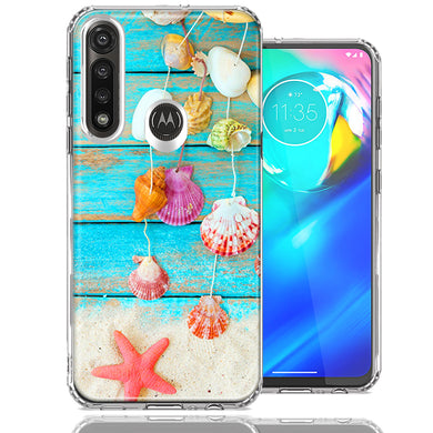 Motorola Moto G Power Seashell Wind chimes Design Double Layer Phone Case Cover
