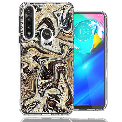 Motorola Moto G Power Snake Abstract Design Double Layer Phone Case Cover