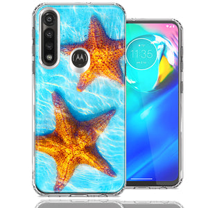Motorola Moto G Power Ocean Starfish Design Double Layer Phone Case Cover