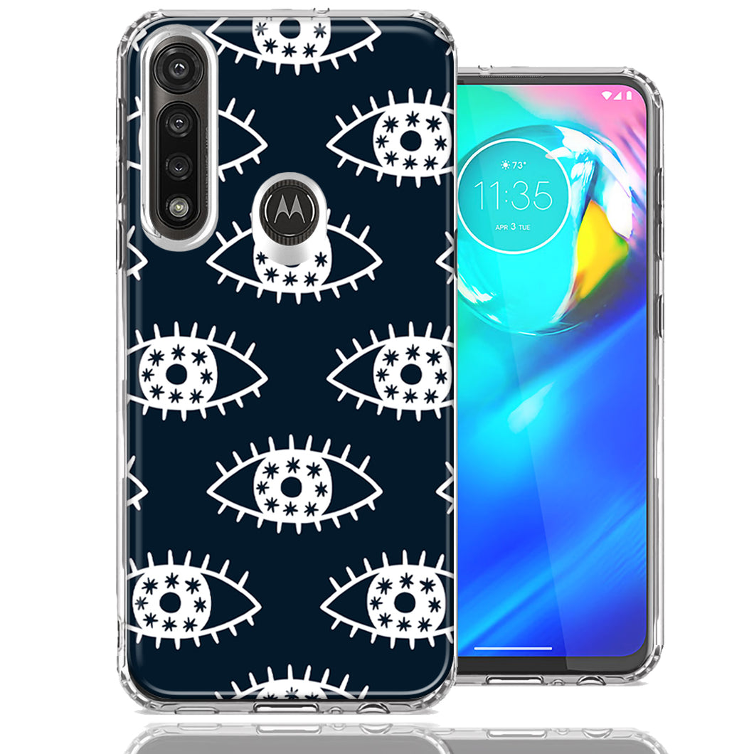 Motorola G Power Starry Evil Eyes Design Double Layer Phone Case Cover