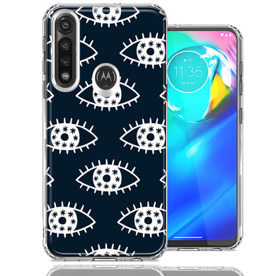 Motorola Moto G Power Starry Evil Eyes Design Double Layer Phone Case Cover
