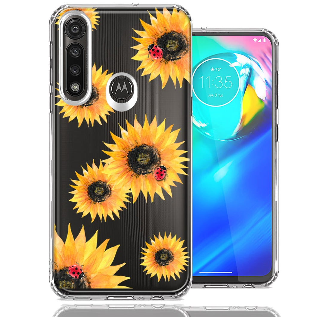 Motorola G Power Sunflower Ladybug Design Double Layer Phone Case Cover