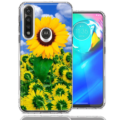 Motorola Moto G Power Sunflowers Design Double Layer Phone Case Cover