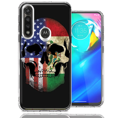 Motorola Moto G Power US Mexico Flag Skull Double Layer Phone Case Cover