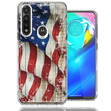 Motorola Moto G Power Vintage American Flag Design Double Layer Phone Case Cover