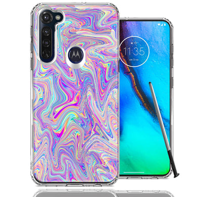 Motorola Moto G stylus Paint Swirl Design Double Layer Phone Case Cover