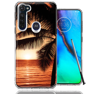 Motorola Moto G stylus Paradise Sunset Design Double Layer Phone Case Cover