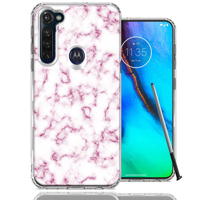 Motorola Moto G stylus Pink Marble Design Double Layer Phone Case Cover