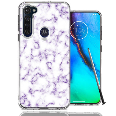 Motorola Moto G stylus Purple Marble Design Double Layer Phone Case Cover