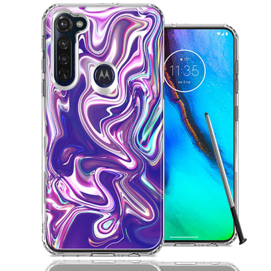 Motorola Moto G stylus Purple Paint Swirl  Design Double Layer Phone Case Cover