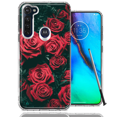 Motorola Moto G stylus Red Roses Design Double Layer Phone Case Cover