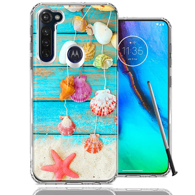 Motorola Moto G stylus Seashell Wind chimes Design Double Layer Phone Case Cover