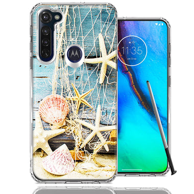 Motorola Moto G stylus Starfish Net Design Double Layer Phone Case Cover