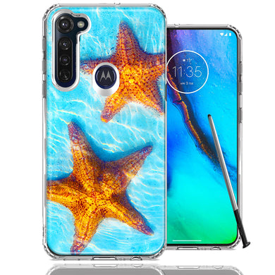 Motorola Moto G stylus Ocean Starfish Design Double Layer Phone Case Cover