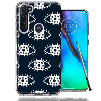 Motorola Moto G stylus Starry Evil Eyes Design Double Layer Phone Case Cover