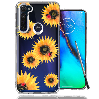 Motorola Moto G stylus Sunflower Ladybug Design Double Layer Phone Case Cover