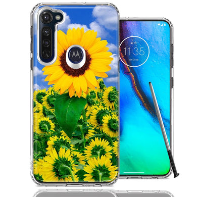 Motorola Moto G stylus Sunflowers Design Double Layer Phone Case Cover