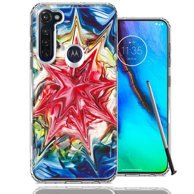 Motorola Moto G stylus Tie Dye Abstract Design Double Layer Phone Case Cover