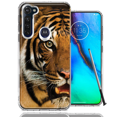 Motorola Moto G stylus Tiger Face Design Double Layer Phone Case Cover