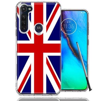 Motorola Moto G stylus UK England British Flag Design Double Layer Phone Case Cover