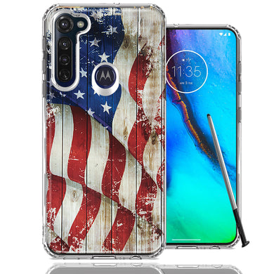 Motorola Moto G stylus Vintage American Flag Design Double Layer Phone Case Cover