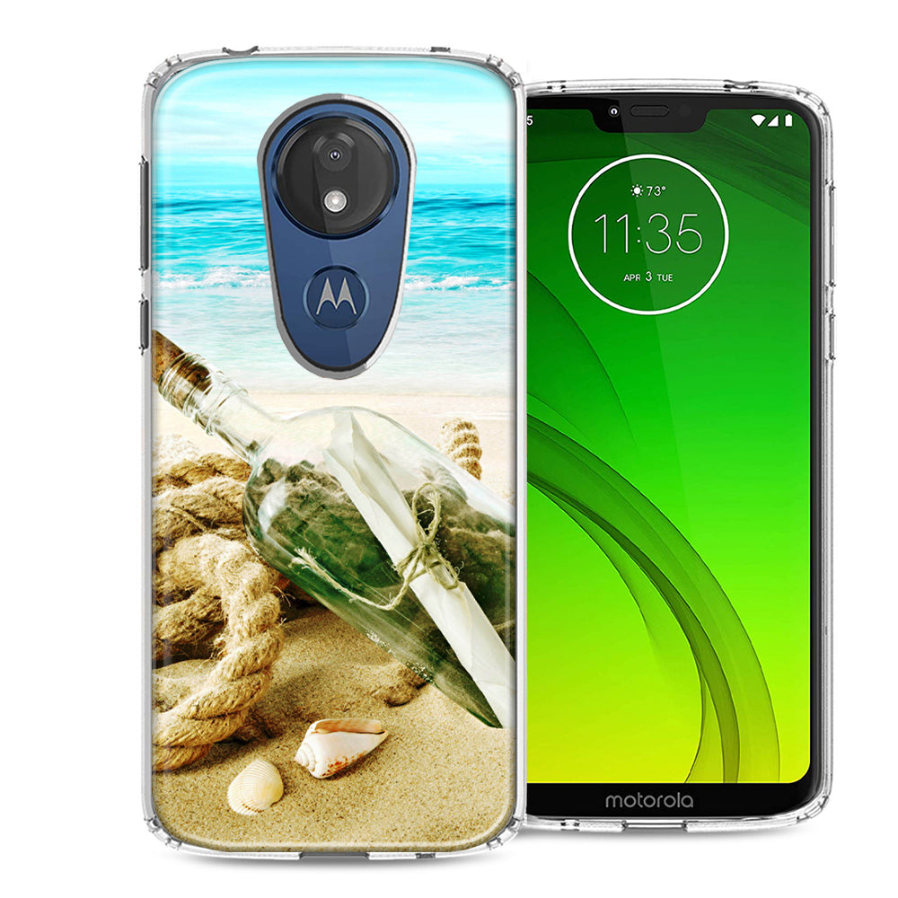 Motorola Moto G7 Power SUPRA Beach Message Bottle Design Double Layer Phone Case Cover