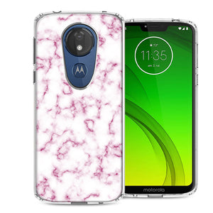 Motorola Moto G7 Power SUPRA Pink Marble Design Double Layer Phone Case Cover