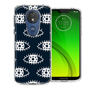 Motorola Moto G7 Power SUPRA Starry Evil Eyes Design Double Layer Phone Case Cover