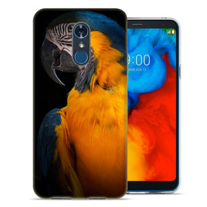 LG Stylo 4 Blue Yellow Macaw Bird Design TPU Gel Phone Case Cover