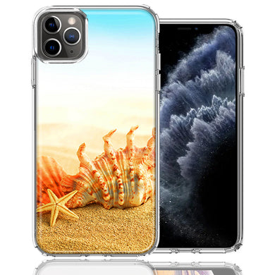 Apple iPhone 11 Pro Beach Shell Design Double Layer Phone Case Cover