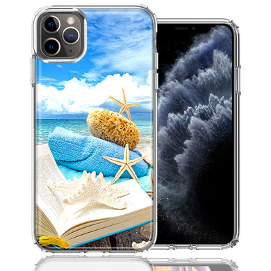 Apple iPhone 11 Pro Beach Reading Design Double Layer Phone Case Cover