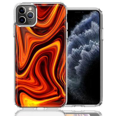 Apple iPhone 11 Pro Fire Abstract Design Double Layer Phone Case Cover