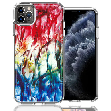 Apple iPhone 11 Pro Land Sea Abstract Design Double Layer Phone Case Cover