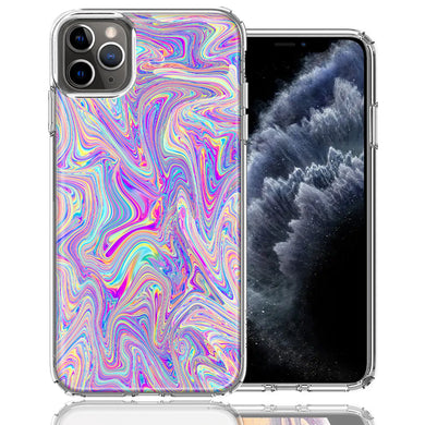 Apple iPhone 11 Pro Paint Swirl Design Double Layer Phone Case Cover