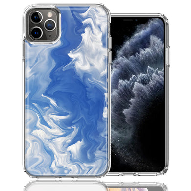 Apple iPhone 11 Pro Sky Blue Swirl Design Double Layer Phone Case Cover