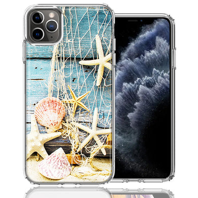 Apple iPhone 11 Pro Starfish Net Design Double Layer Phone Case Cover