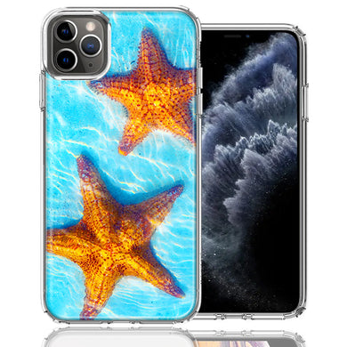 Apple iPhone 11 Pro Ocean Starfish Design Double Layer Phone Case Cover