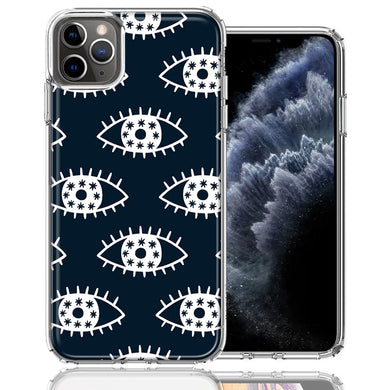 Apple iPhone 11 Pro Starry Evil Eyes Design Double Layer Phone Case Cover