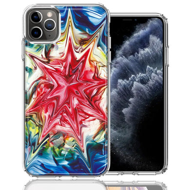 Apple iPhone 11 Pro Tie Dye Abstract Design Double Layer Phone Case Cover