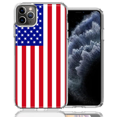 Apple iPhone 11 Pro USA American Flag  Design Double Layer Phone Case Cover