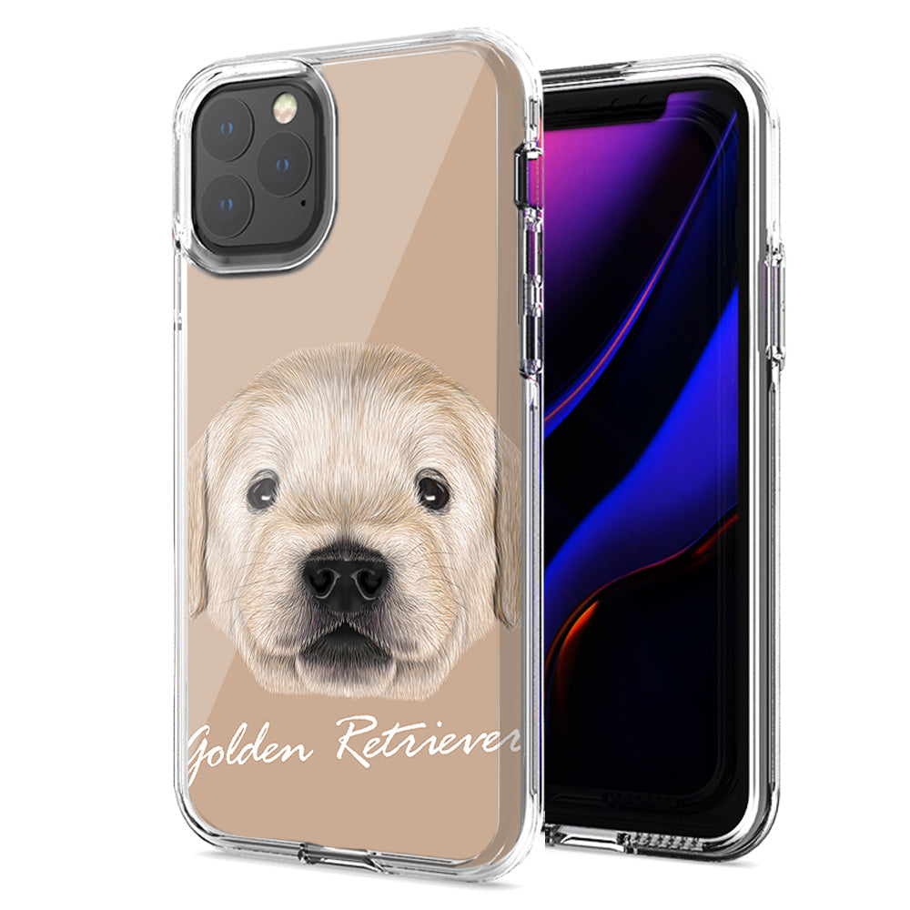 Apple iPhone 11 Golden Retriever Design Double Layer Phone Case Cover