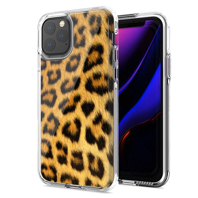 Apple iPhone 11 Classic Leopard Design Double Layer Phone Case Cover