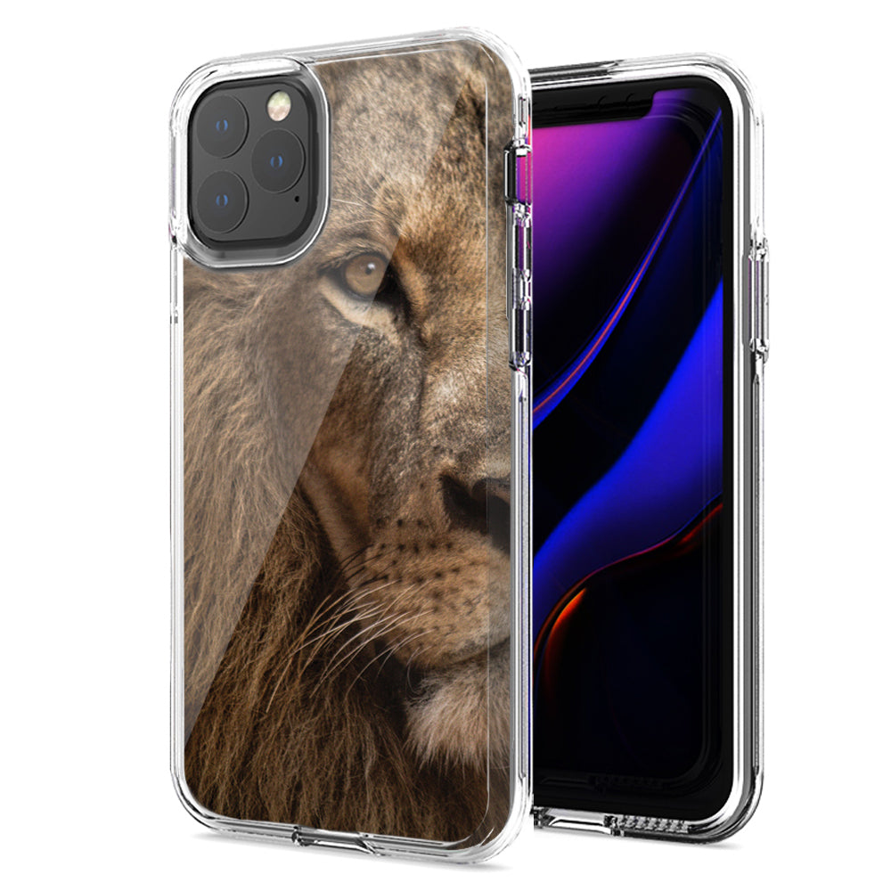 Apple iPhone 11 Pro Lion Face Nosed Design Double Layer Phone Case Cover