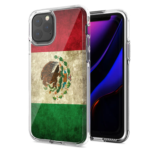 Apple iPhone 11 Pro Mexico Flag Design Double Layer Phone Case Cover