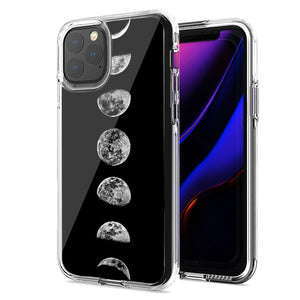 Apple iPhone 11 Pro Max Moon Transitions Design Double Layer Phone Case Cover
