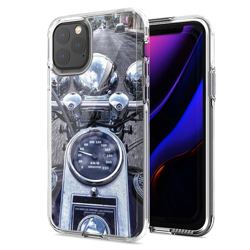 Apple iPhone 11 Pro Max Motorcycle Chopper Design Double Layer Phone Case Cover