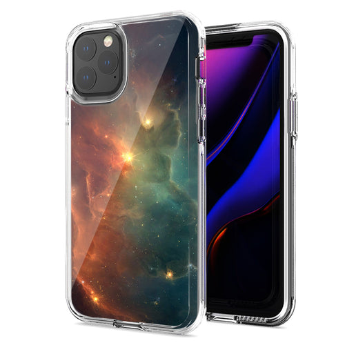 Apple iPhone 11 Nebula Design Double Layer Phone Case Cover